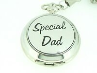 New BOXX Silver Special Dad Pocket Watch and Chain Boxed