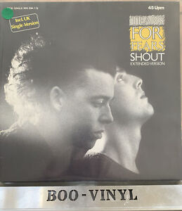 """Tears For Fears ~Shout 12"""" Single Extended Version Vinyl Record EX / EX CON"""