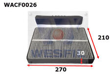 WESFIL CABIN FILTER FOR Ford Territory 4.0L 2008-on WACF0026