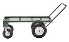 Sandusky FW4824 Heavy Duty Steel 4 Wheel Flat Wagon with Pull Handle, 750 lbs x
