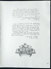 1926 - Lithographie citation de Mgr Tissier, Chaptal (Guerre 14 18)