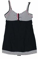 Designer Brand Womens Swimwear Black Size 60 Plus Squiggle Swimdress $40- 907