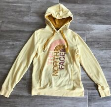 Yellow Pull-Over Hoodie RETAILS $79- THE NORTH FACE Women's Medium Logo In Front