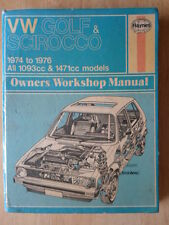 VOLKSWAGEN GOLF & SCIROCCO 1974-76 Haynes Owner's Workshop Manual - VW