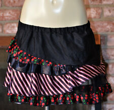 WOMENS MONSTER HIGH GHOULIA TIERED ZOMBIE TUTU PETTI SKIRT CHERRY GOTH O/S