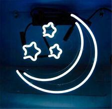 "Neon Moon Stars Home Beer Club Night Lamp Decor Visual Floor Neon SIGN 10""X9"""