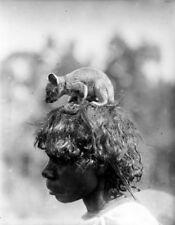 Photo. 1921. Australia. Aborigines - Pongaponga Woman & Possum