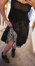 Steampunk Victorian Cosplay bustle Skirt Top goth Tim Burton style kawaii dress