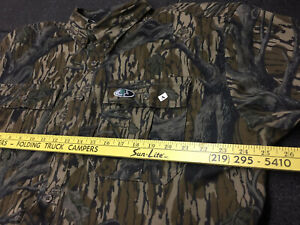 New Mossy Oak Treestand Cotton Mill 2.0 Men's Large, LS, Camo Hunting Shirt NWT!