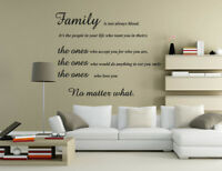 Butterfly Bird Family Inspirational Wall Art Wall Quote Sticker UK RUI128