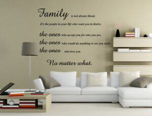 Family Is Not Always Blood Quote Wall Art Sticker Wall Stickers UK rui193