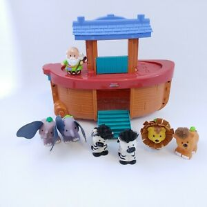 Fisher Price Little People NOAH'S ARK With TOUCH-AND-FEEL ANIMALS Complete HTF