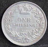 Victoria, Silver Shilling, 1879, Die No.1. aEF . S3906A. ESC 3053 R2. Rare
