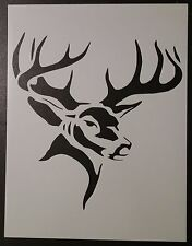 "Hunting Buck Head Deer 8.5"" x 11"" Custom Stencil FAST FREE SHIP"