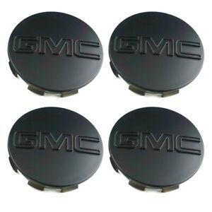 4pcs Black GMC SIERRA Yukon Wheel Center Hub Caps 83mm Matte #23357064 20942032