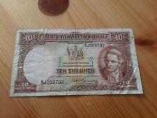 10 SHILLINGS R.N.FLEMING 1956-1960 - Neuseeland! Erhaltung IV (VG)