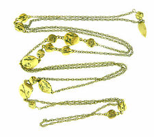 Cold water Creek Gold Tone Beaded Long Chain Interval Necklace 60""