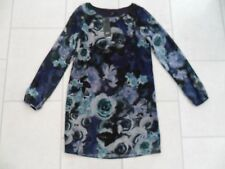 New F&F Blue Rose Print Long Sleeve Tunic / Dress Size 6 or 8