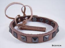 Linea Pelle Skinny Studed Pyramid Bracelet in SCOTCH