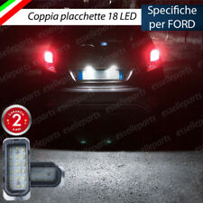 COPPIA PLACCHETTE LED TARGA 18 LED FORD FIESTA MK6 VI CANBUS ULTRALUMINOSI