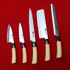 5 Knives Set Chef Knife Japan Sashimi DEBA Stainless Steel Kitchen Cook Cutlery