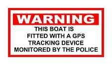 Barco de advertencia de rastreo GPS controlado por la policía pegatina Barco