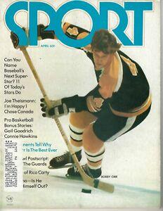 1972 APRIL Sport Magazine Hockey Bobby Orr, Boston Bruins Rico Carty Braves GOOD
