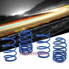 "Blue 1.9"" Drop Manzo Racing Performance Lowering Spring For 05-10 Chevy Cobalt"