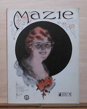 Mazie - 1921 sheet music - cover portrait of woman by Knox