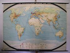 Schulwandkarte muro mapa schulkarte tierra mundo mapa del mundo uso World 225x163 cm