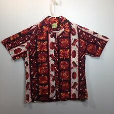 Genuine Hawaiian Aloha Shirt - Ui-Maikai - L - Masks & drums True Vintage Reds