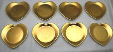 8 HEART Cocktail Plates Philippe Deshoulieres Limoges 'Carat Gold' - EXLNT