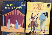 2 Vintage Arch Books The Baby Born In A Stable & Donkey Daniel