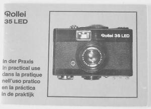 Rollei 35 LED in practical use Instruction Manual multi language Original