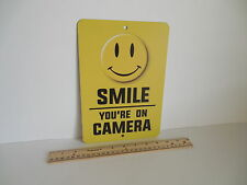 Smile You're On Camera Video Surveillance Security System Metal Yard Sign # 721