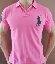New NWT Mens Ralph Lauren Polo Shirt Big Pony Muscle Fit Custom Fit Small