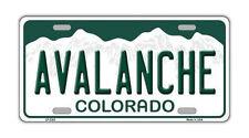 Metal Vanity License Plate Tag Cover - Colorado Avalanche - Hockey Team