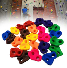 20pcs Textured Climbing Holds Rock Wall Stones Holds Grip For Kid Indoor Outdoor