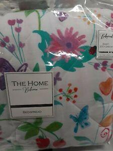 Rapport Jardin Floral  Bedspread 200cm x 240cm CHEAPEST ON EBAY