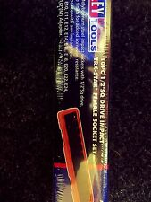 Sealey Impact Torx Star Female Socket Set 1/2 Drive E10 - E24