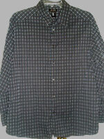 Mens AXCESS Claiborne Co Shirt Size XXL Long Sleeves Black