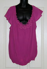 Womens size 20 cute pink blouse iwth crochet detail made by AUTOGRAPH