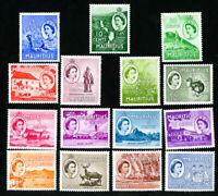Mauritius Stamps # 251-65 VF OG LH Catalog Value $65.15