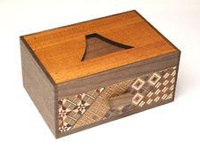 Japanese secret Puzzle gimmick Yosegi Hakone box craft work Mt. Fuji Fujiyama