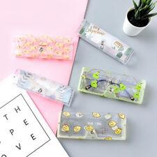 15.6*4.6cm Cute Portable Cartoon Clear Glasses Case Folding PVC Sunglasses Box