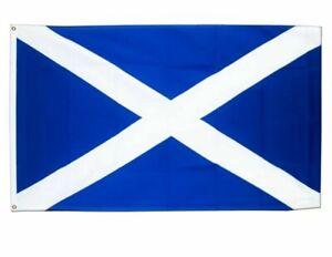 Scotland St Andrew's Saltire Scottish Large National Flag Euros 5ft x 3ft NEW