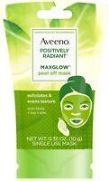 Aveeno Positively Radiant MaxGlow Peel Off Exfoliating Face Mask,.35 oz 2pk