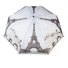 Taschenschirm Automatik Regenschirm Schwarz-Weiss Paris von ROSEMARIE SCHULZ