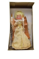 Vintage Heavenly Angel Ten Light Tree Topper