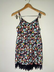 BNWOT Valleygirl Navy Floral Playsuit Jumpsuit - Womens Size 8